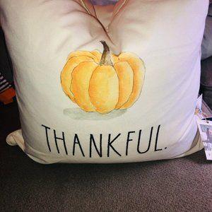 Rae Dunn Bedding - Rae Dunn THANKFUL Feather Pillow Fall 2020 Pumpkin